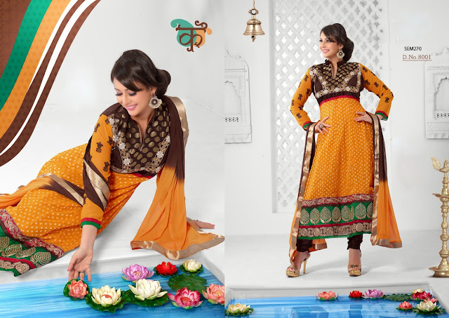 New Arrival Georgette Long Anarkali Salwar Suit