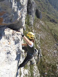 Vicky vega , guia de escalada en roca , Altus