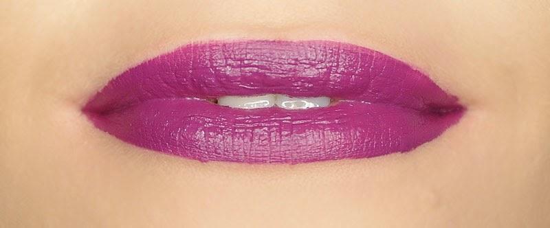 A swatch of MUA LUXE Velvet Lip Lacquer in Kooky