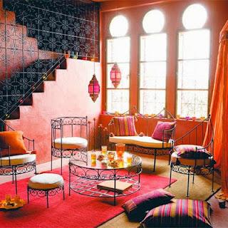 decoración marroquí pintura y madera