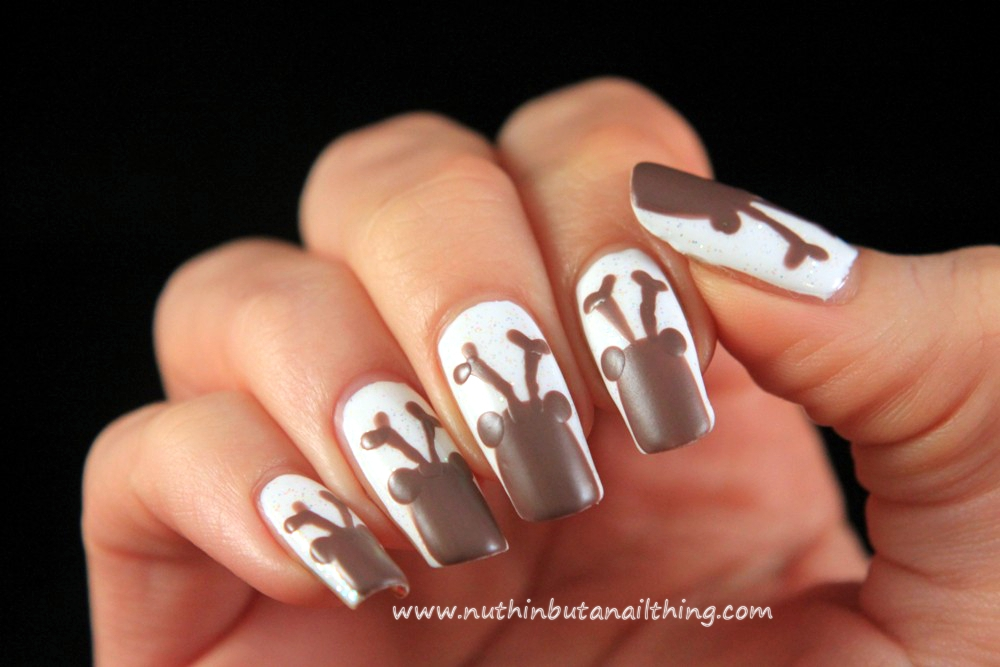 Nuthin but a nail thing reindeer nail art tutorial prinsesfo Images
