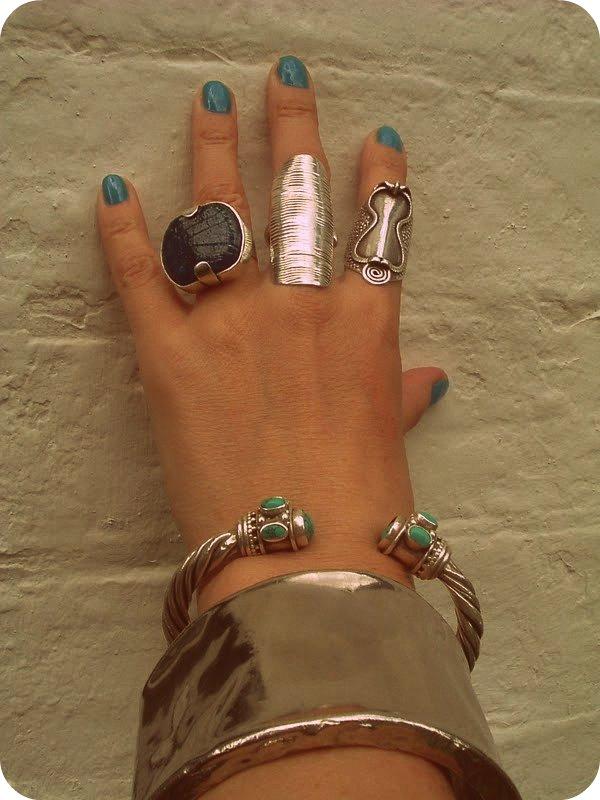 Tibetan Silver Ring Butterflies Amethysts