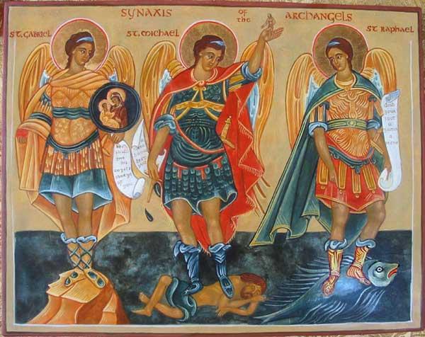 COV ZAJ NYEEM NRUAB LIS PIAM XYOO II,  2015-2016 - Page 11 Archangels-Gabriel-Michael-and-Raphael