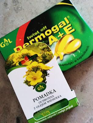 GAL | Pomadka z olejem wiesiołka oraz Dermogal A+E