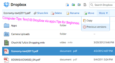 Computer Tips: Ten(10) Dropbox via apps Tips for Beginners