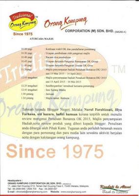 Majlis Penyampaian Hadiah Peraduan Bonanza OK 2015