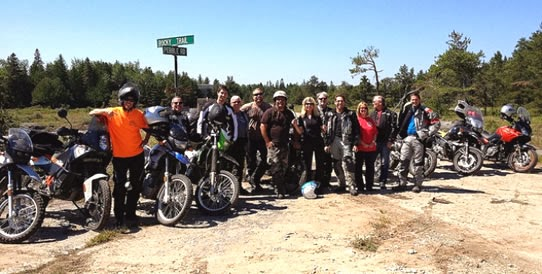 Group Ride Vicki Gray Manitoulin