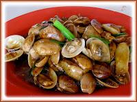 Lala or clams in Szechuan sauce