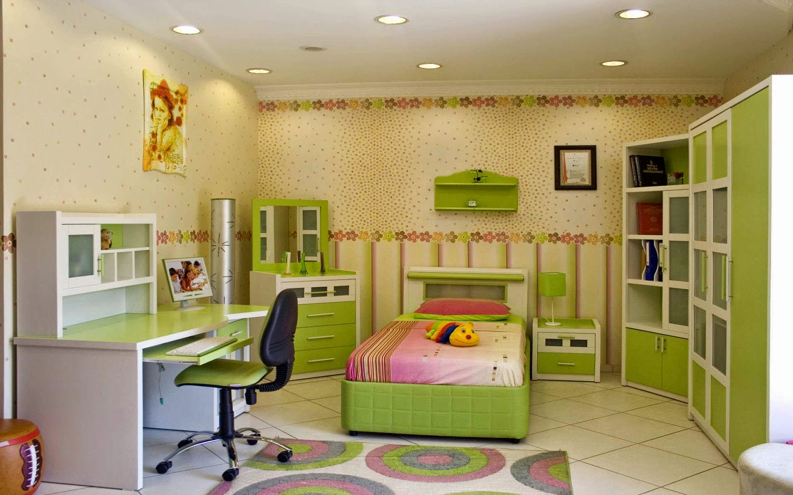 Perfect study area in kids rooms new ideas of kids study for Table for kids room