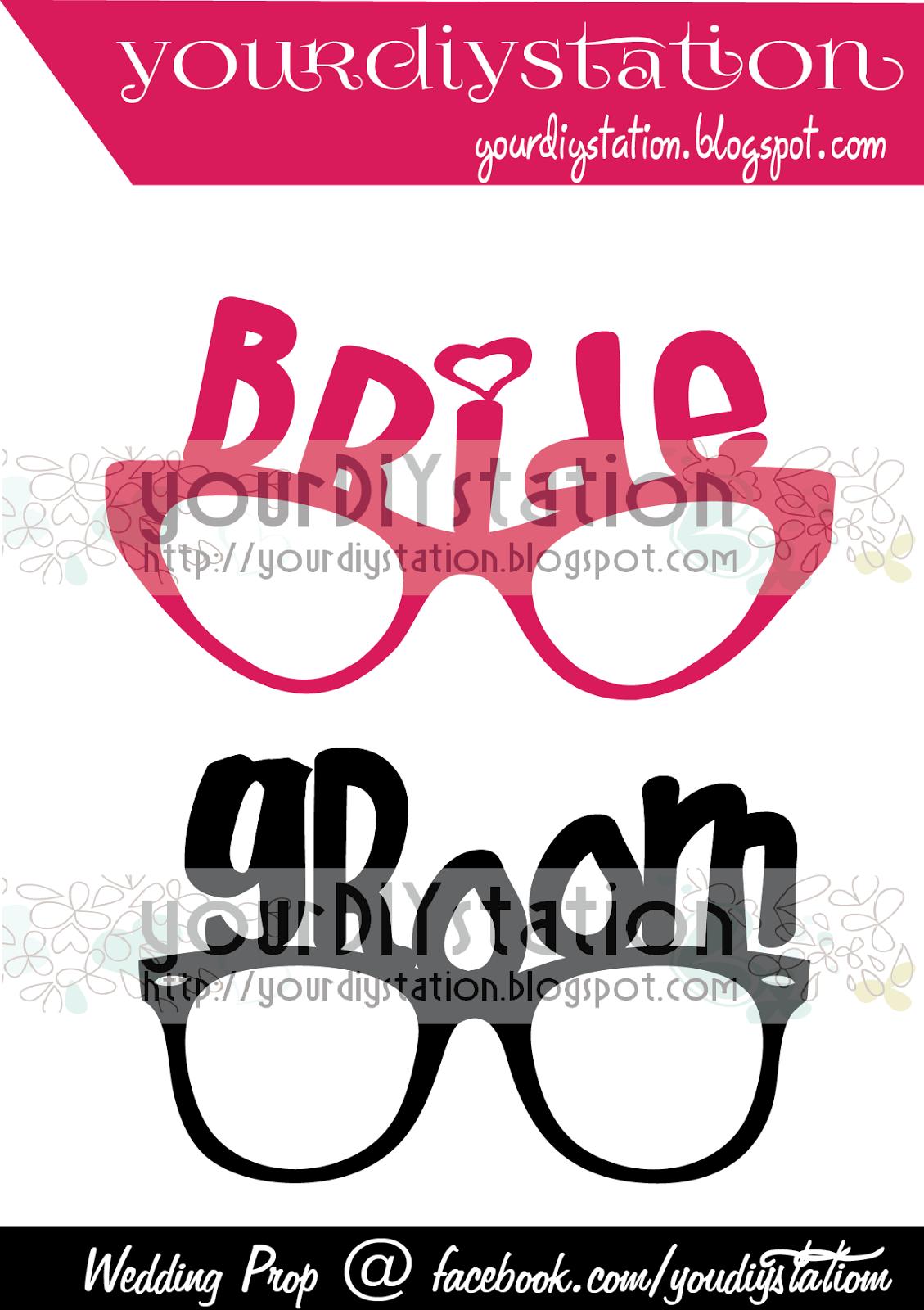 DO IT YOURSELF Wedding Prop Bride Amp Groom