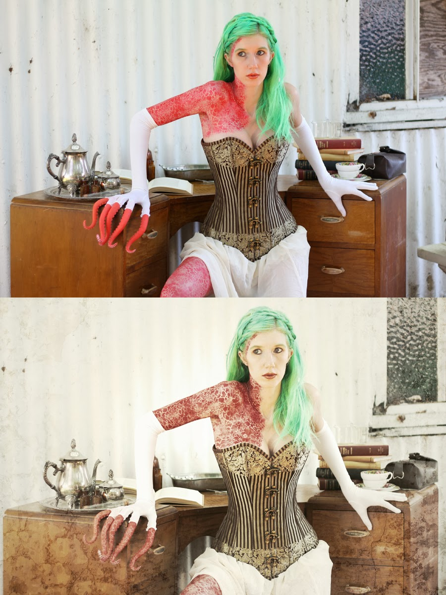 Before and After Full Body Paint