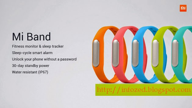 Mi Band for Fitness Monitor and Sleep Tracker, Sleep Cycle Smart Alarm, Unlock your Phone without a Password, 30 day standby power, Water Resistant IP67