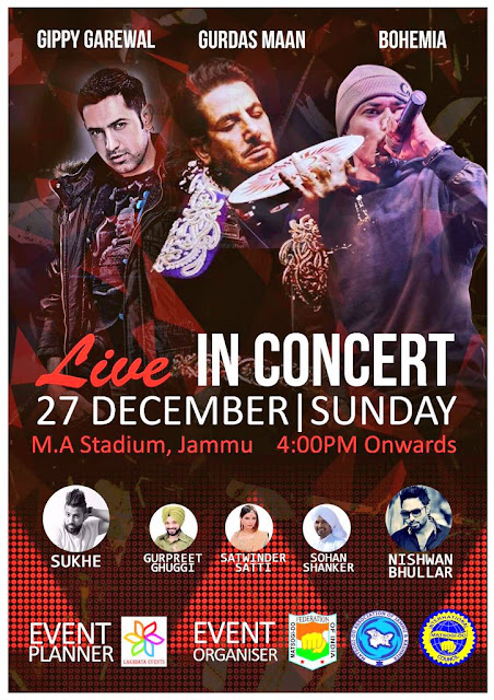BOHEMIA Live in Concert on 27 December at MA Stadium Jammu - pesa nasha pyar - team bohemia