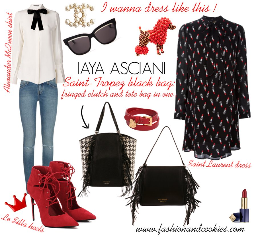 Iaya Asciani Saint Tropez bag on Fashion and Cookies fashion blog, fashion blogger style, fashion wishlist