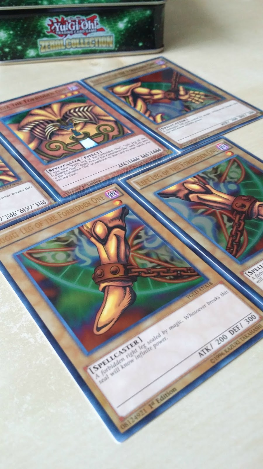 temporary waffle yugioh exodia the forbidden one full card set