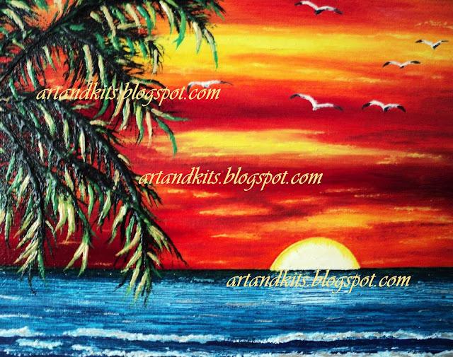 Detalhes da minha pintura intitulada Cores de Verão. / Details from my painting titled Summer Colors.