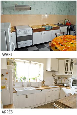 Cuisine Ikea Faktum/ Stat blanc cassé bois moderne classique lumineuse