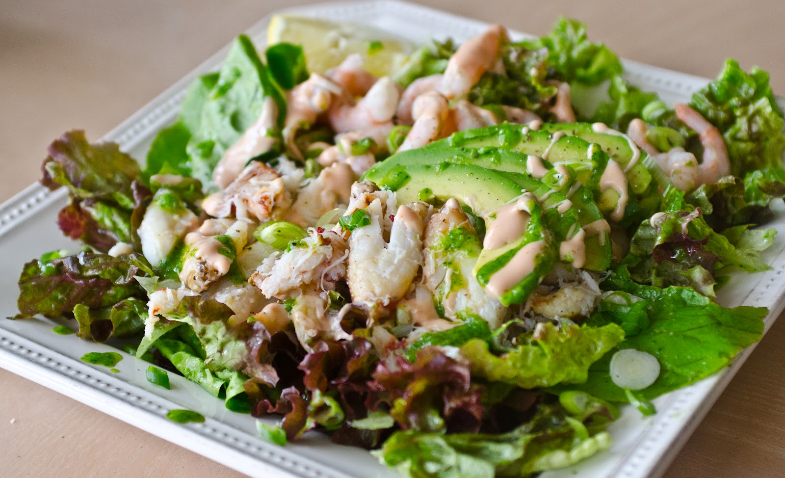 Navy Blue Kitchen: Dungeness Crab and Shrimp Salad with Avocado