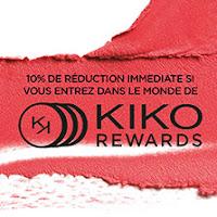 10% de reuduction chez KIko cosmetics