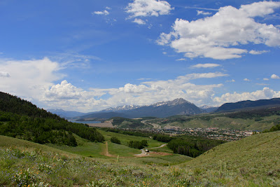 View of the Tenmile Range in Silverthorne Colorado.  Viewed from the Angler Mountain Trail.