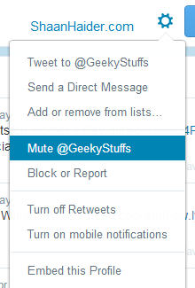 HOW TO : Mute A Twitter User and Hide their Tweets from Timeline Without Unfollowing Them