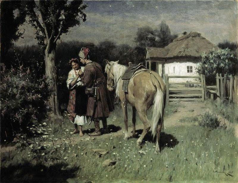Николай Пимоненко. Украинская ночь. Свидание. 1905 г.