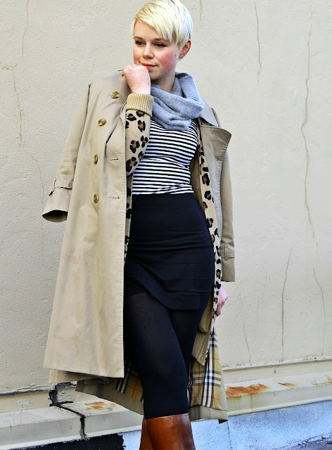burberry, seattle, trench coat, stripes, street style, fleur d'elise
