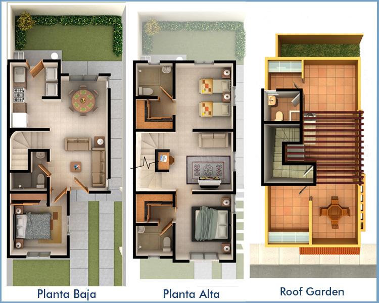 Planos de casas y plantas arquitect nicas de casas y for Casas reducidas