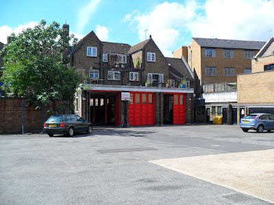 The back yard of The Blackwall Fire Station