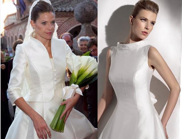Vestidos de novia con cuello de reina