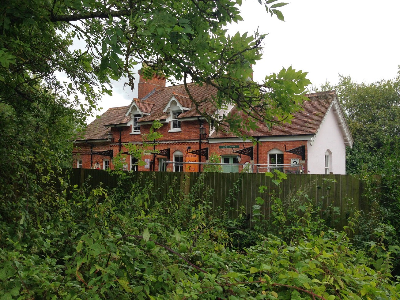 The former Whitchurch Town railway station, on the Newbury to Winchester line