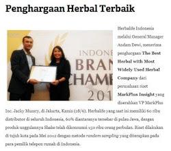 Penghargaan herbal terbaik