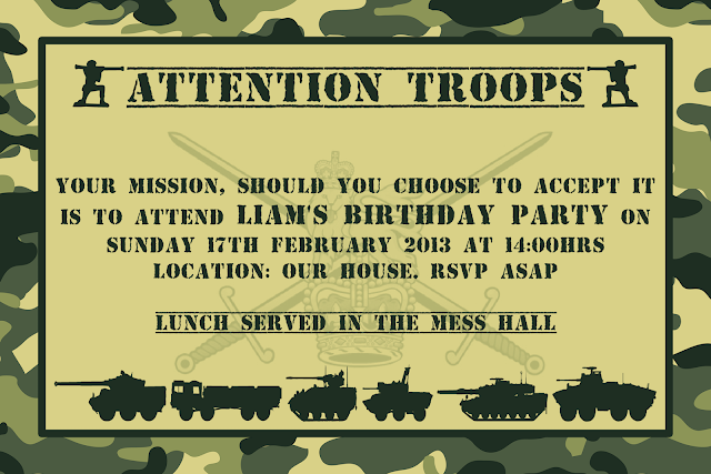 Bringing It All Together - Army Themed Party » The Purple Pumpkin Blog