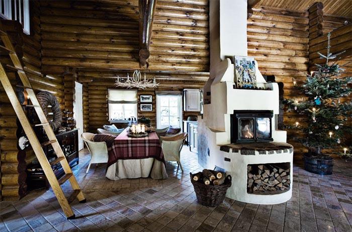 interior cabaa rstica vestida para navidad u virlova style