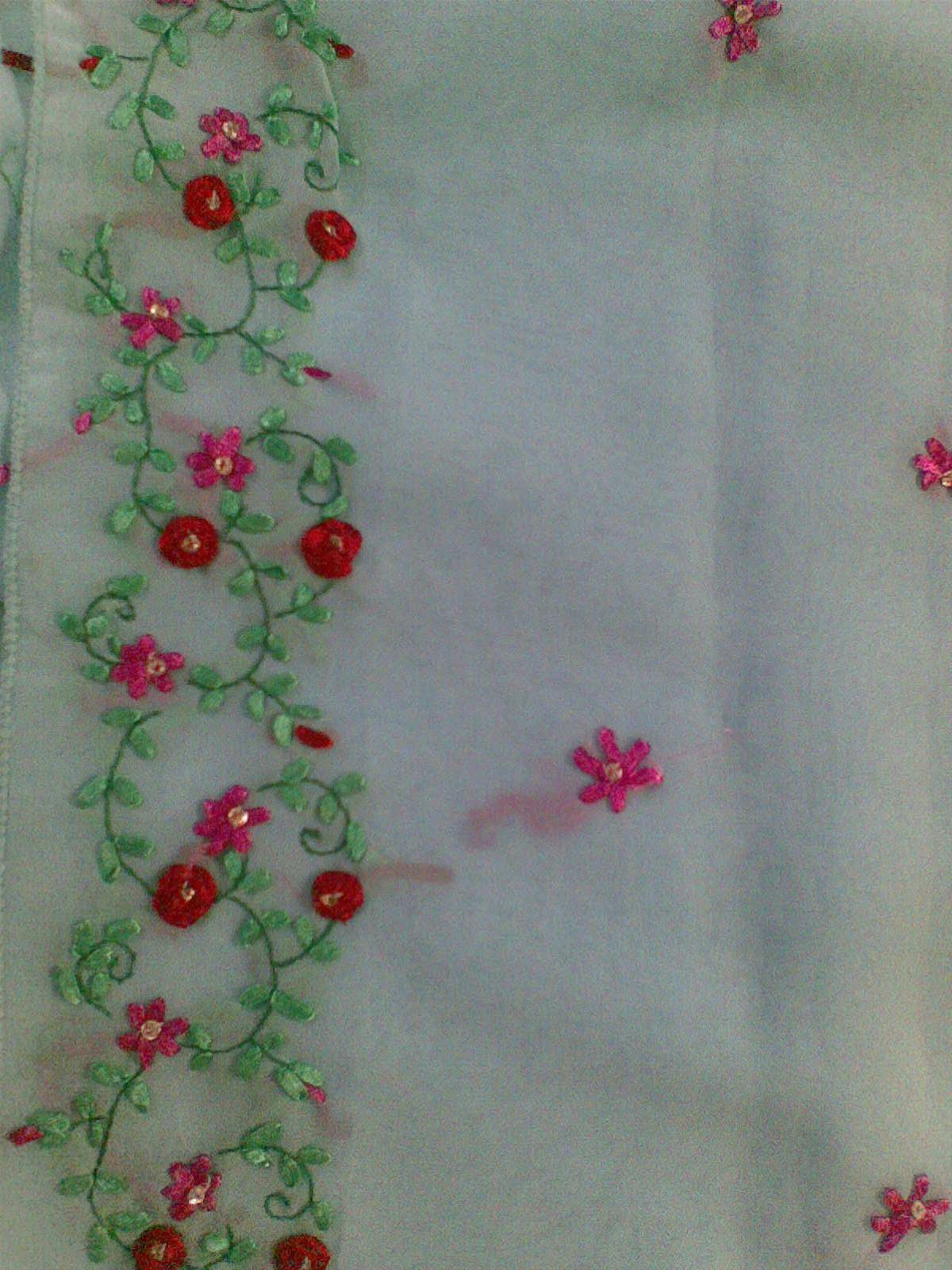 SRILU ARTS Ribbon Work On Saree