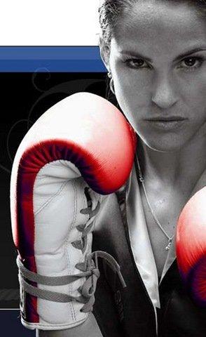 Kina Malpartida y sus guantes de  box