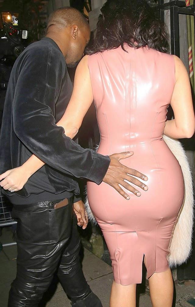 Kanye West toca el culo de Kim Kardashian