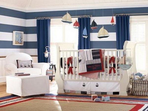 Cuartos para beb s estilo marinero colores en casa - Baby boy bedroom design ideas ...