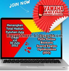 Yamaha Writting Competition 2012 (1 Mei - 30 Juli 2012)