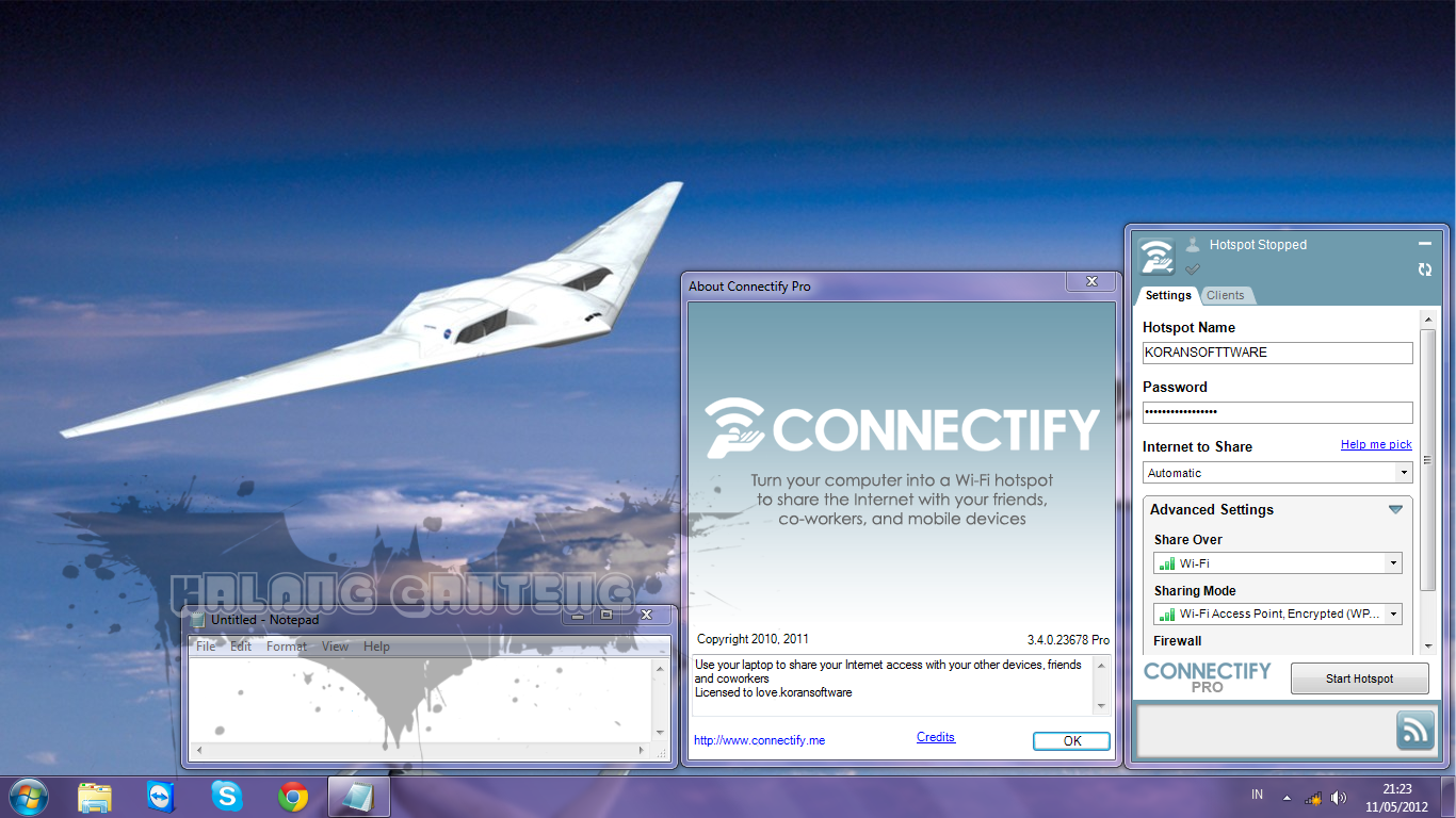 Connectify 9 Pro Screenshot