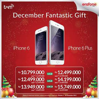 Promo iPhone 6 dan 6 Plus Desember 2015 di Erafone