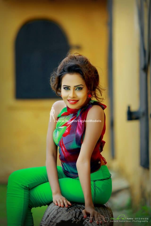 Sri lankan new fashion 2015 models latest photos red frock design sri