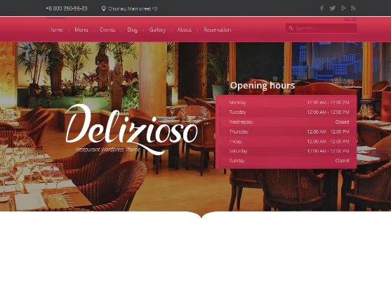 Delizioso Restaurant Responsive WordPress Theme