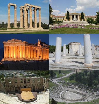 The most famous attractions in Athens, Greece