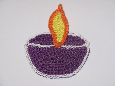 Crochet lamp for Diwali