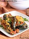 Potato And Eggplant Dry Curry, Aloo Baingan Dry Sabzi