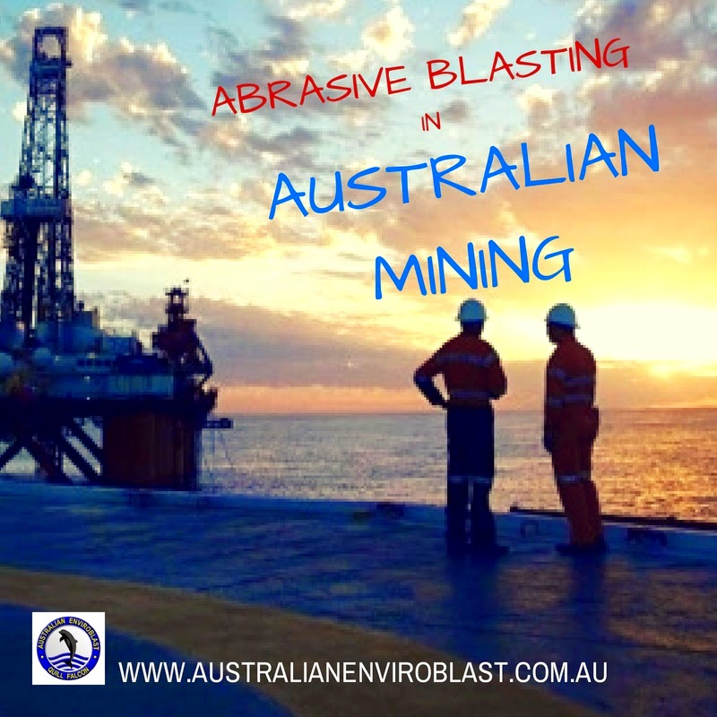Abrasive blasting is the ideal preparation for repainting and re-coating all types of mining machines and apparatus