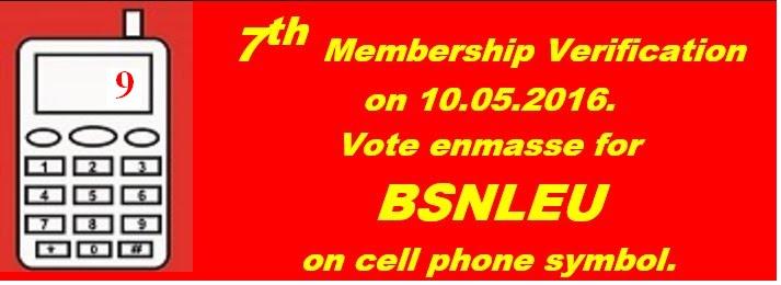 Vote For BSNLEU symbol 9