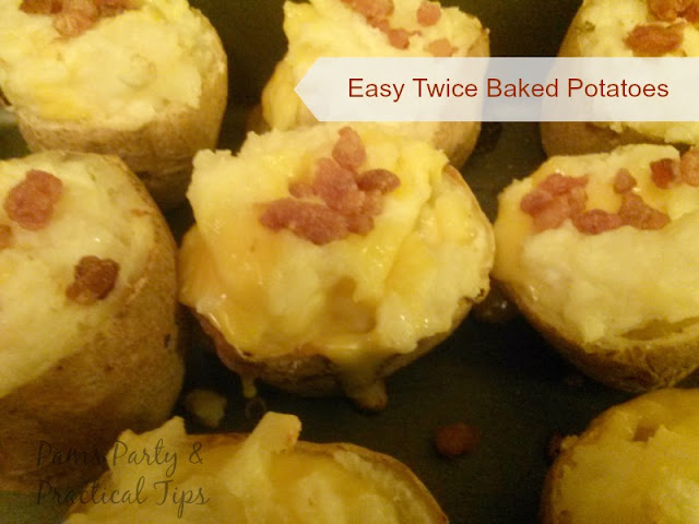 Cheesy Twice Baked Potatoes with Bacon Bits
