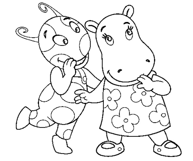 Backyardigans tyrone coloring pages printable for Free backyardigans coloring pages